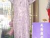 旗袍-23-金碎花紫旗袍
