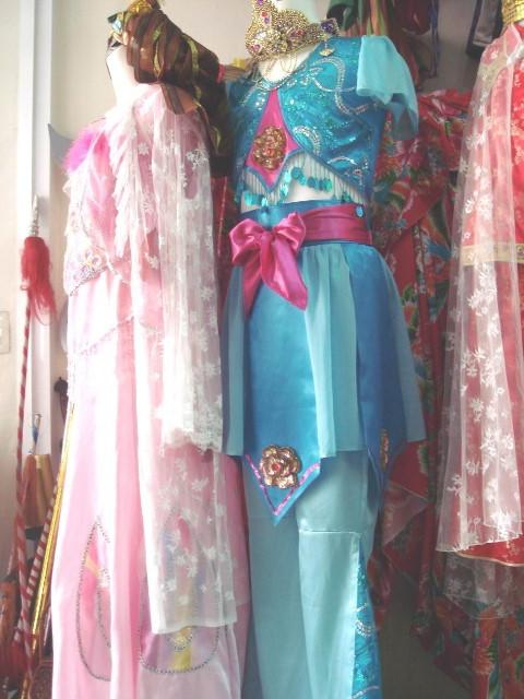 古裝-7-水藍敦煌戲服