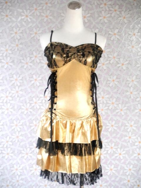特殊-43-金馬甲黑蕾絲舞衣