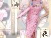 旗袍-29-桃玫瑰亮片旗袍