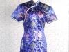 旗袍-16-中國藍短旗袍