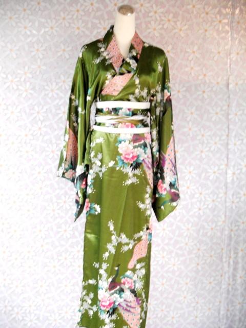日韓-25-綠孔雀和服