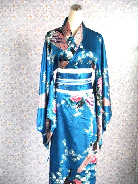 日韓-24-藍孔雀和服